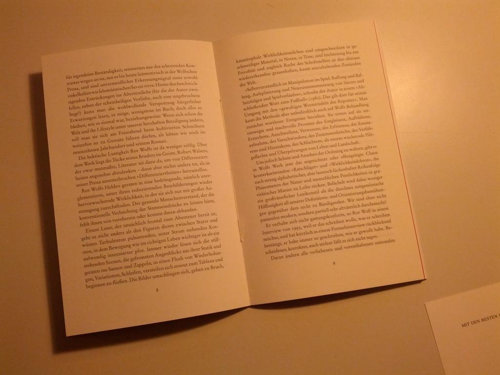 Brigitte Kronauers Rede zu Ror Wolfs Geburtstag