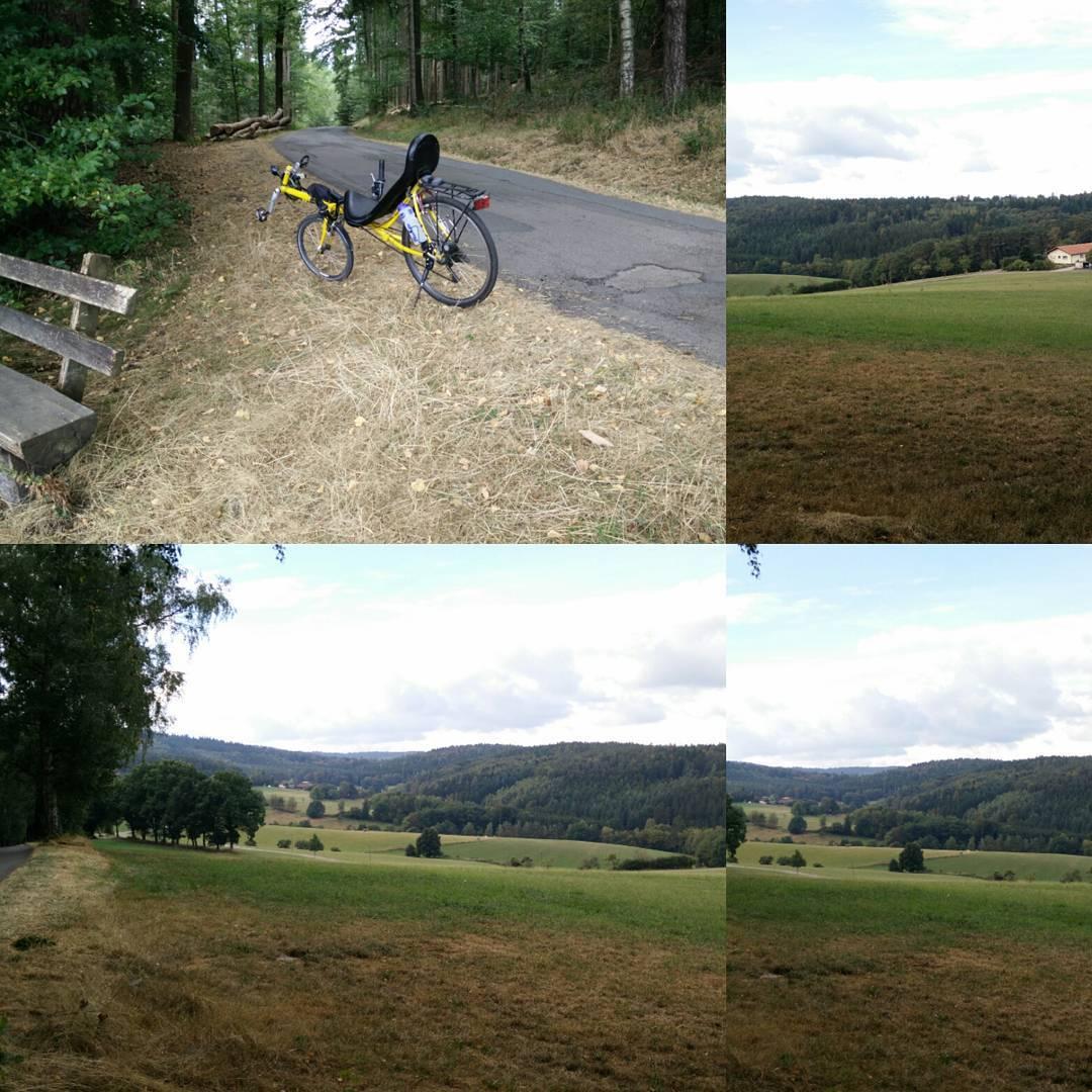 Kleine Radtour im Odenwald mit Sackgasse an einer Baustelle Liegeradhellip