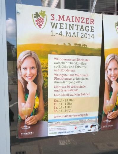 Die ss-Brücke in Mainz (vor oder nach dem Besuch der Weintage?)