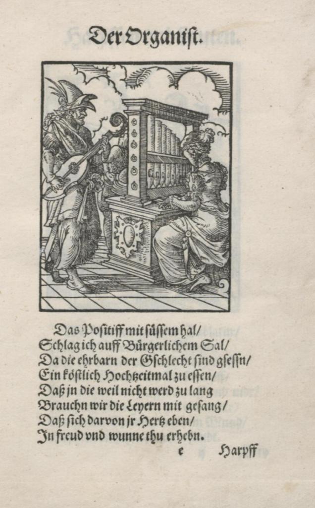 """organist (aus dem """"ständebuch"""")"""