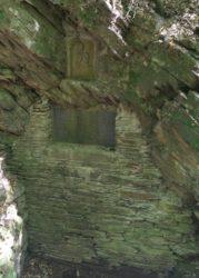 Ehrbachklamm: Mauerwerk und Bild