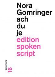 gomringer, ach du je (cover)