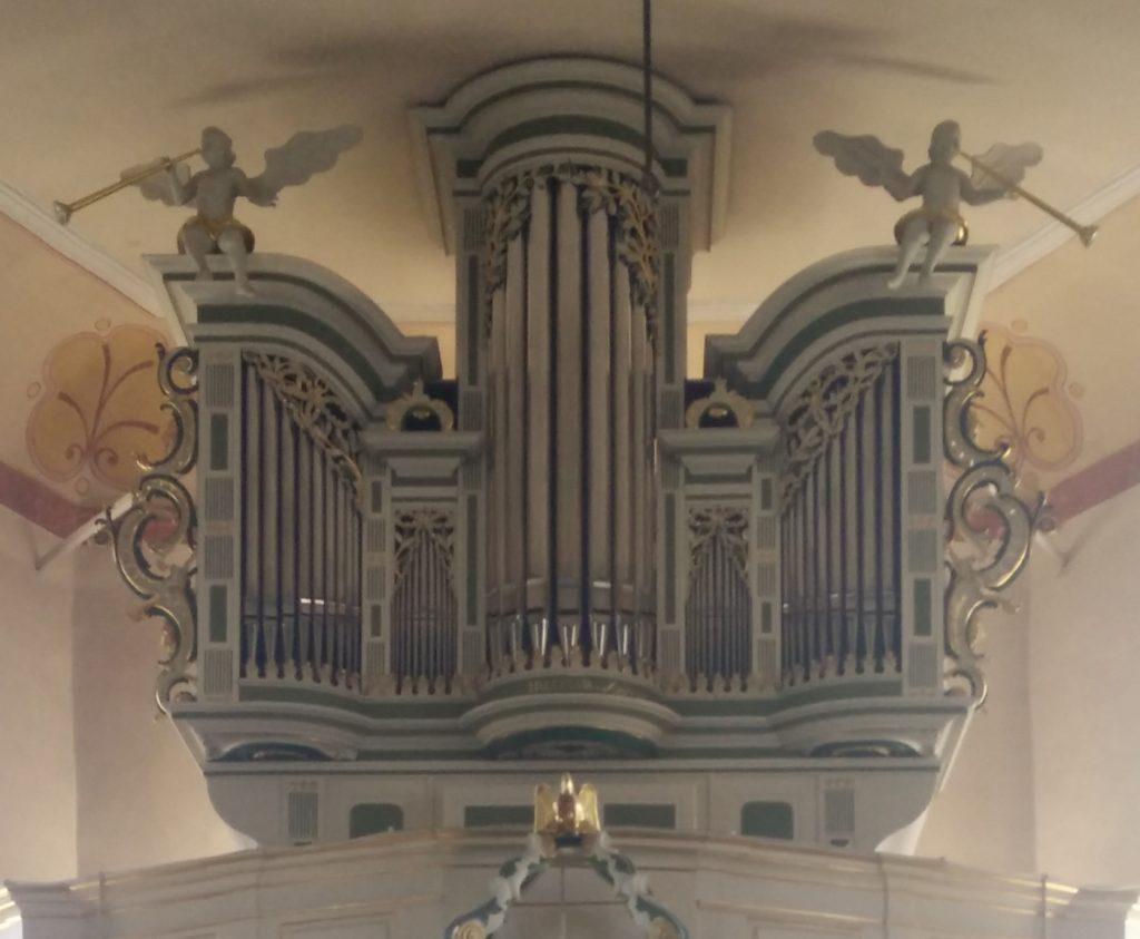 prospekt der sandbacher orgel