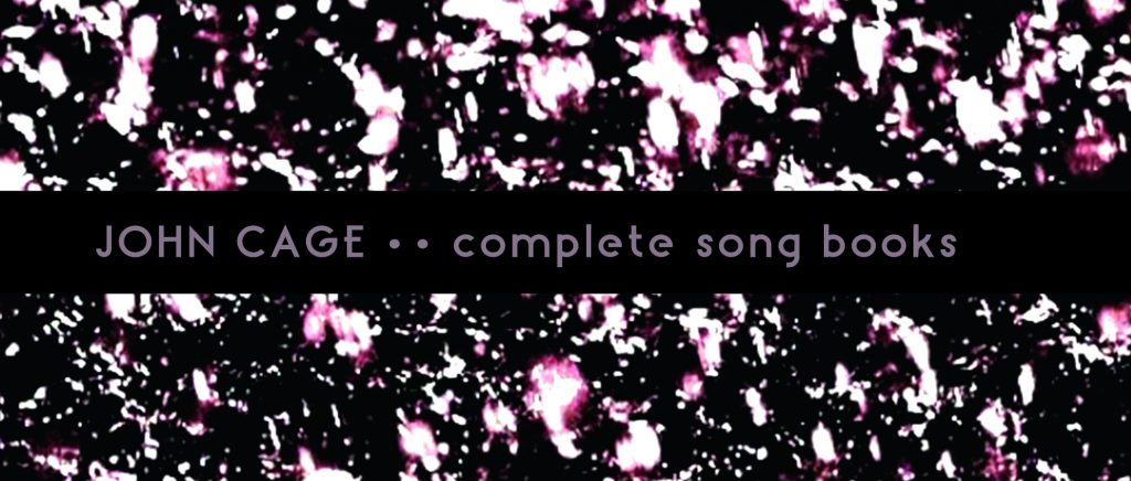 john cage, complete song books (cover)