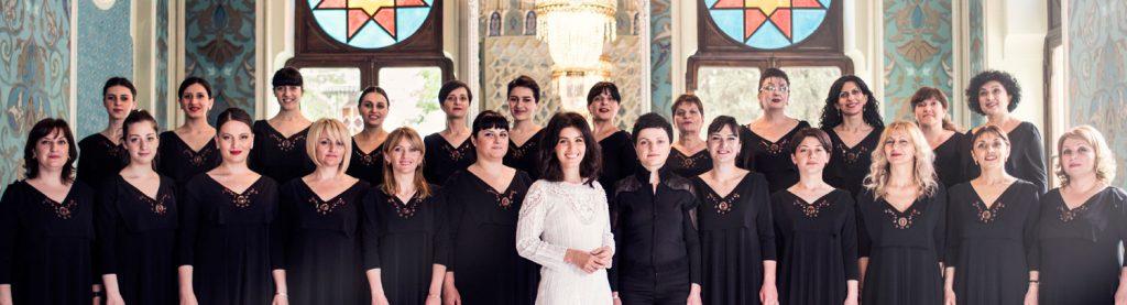 katie melua & gori women's choir (gruppenbild)