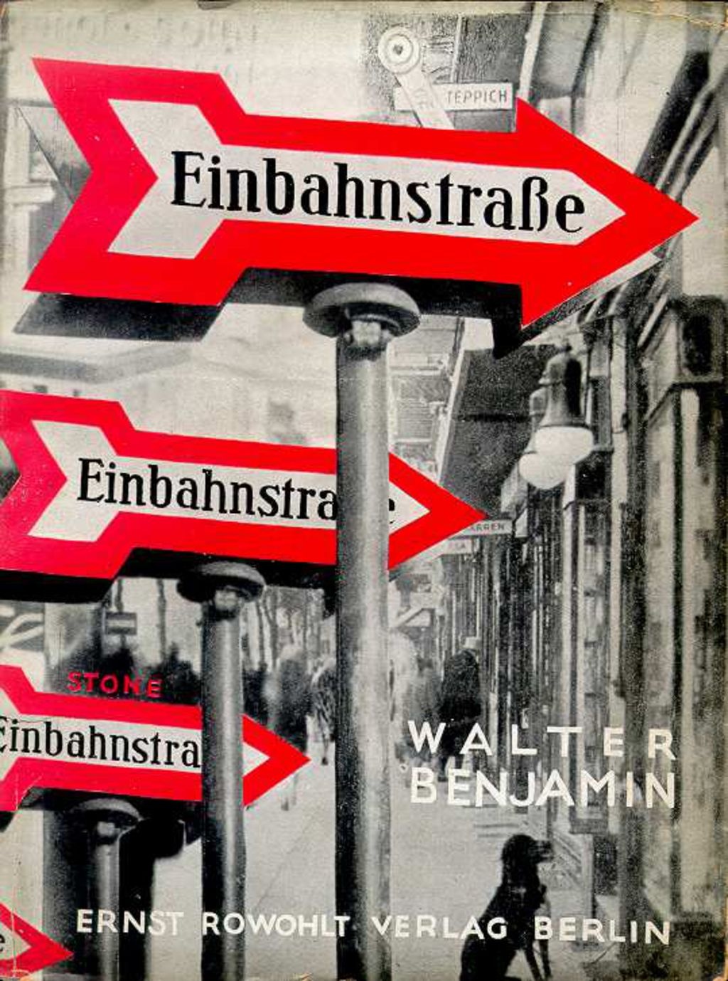 walter benjamin, einbahnstraße (cover)