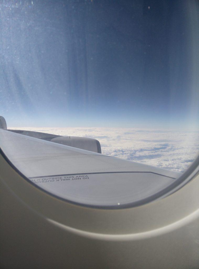 Auf dem Flug von Dubai nach München